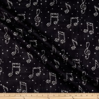 Kaufman In Harmony Musical Notes Black