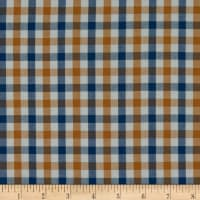 Kaufman Harriot Yarn Dyed  Check Navy