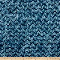 Kaufman Natural Formations 3 Chevron Indigo