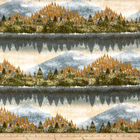Kaufman Nature's Window Metallic Forest Autumn