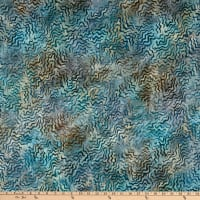 Kaufman Artisan Batiks Aqua Spa 3 Squiggles Earth