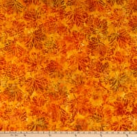 Kaufman Artisan Batiks Cornucopia 10 Maple Leaves Pumpkin