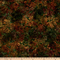 Kaufman Artisan Batiks Cornucopia 10 Maple Leaves Grass