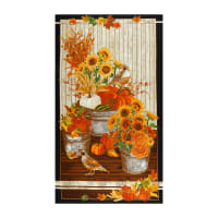 "Kaufman Giving Thanks Metallic 24"" Panel Harvest"