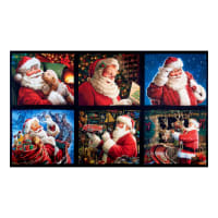 "Kaufman Jolly Saint Nick Santa Claus 30"" Panel Holiday"