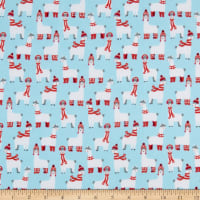 Kaufman Bundled Buddies Flannel Llamas Aqua