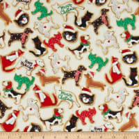 Kaufman Holly Jolly Christmas Digital Treats Ivory
