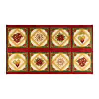 "Kaufman Holiday Flourish 12 Metallic 24"" Panel Holiday"