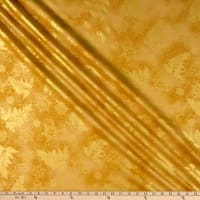 Kaufman Holiday Flourish 12 Metallic Snowflakes Gold
