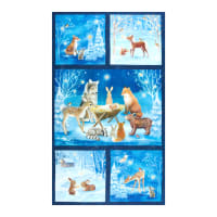 "Kaufman Warm Wishes Christmas 24"" Panel Winter"