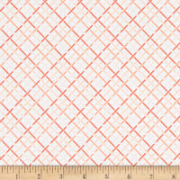 Kaufman Betty's Luncheonette Crosshatch Peach