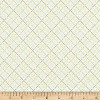 Kaufman Betty's Luncheonette Crosshatch Olive