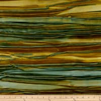 Kaufman Artisan Batiks Patina Handpaints Stripes Desert Green