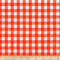 Kaufman Kitchen Window Wovens Gingham Flame