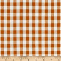 Kaufman Kitchen Window Wovens Gingham Roasted Pecan