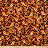 Henry Glass Autumn Time Paisley Black