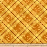 Henry Glass Autumn Time Plaid Scroll Butter