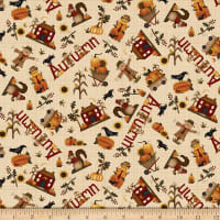 Henry Glass Buttermilk Autumn Novelty Toss Cream