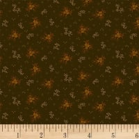 Henry Glass Buttermilk Autumn Mini Floral Green