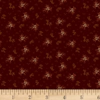 Henry Glass Buttermilk Autumn Mini Floral Dark Red