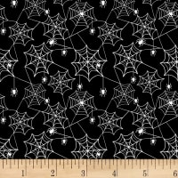 Henry Glass Glow In The Dark Ghostly Glow Town Spider Web Black
