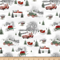 Henry Glass Holiday Homestead Small Winter Scenic Gray