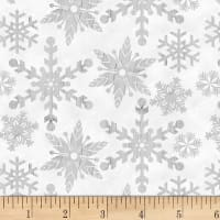 Henry Glass Holiday Homestead Snowflake Gray