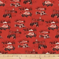 Henry Glass Holiday Homestead Monotone Scenic Red