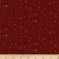 Henry Glass Home Is Best Square Texture Red