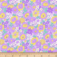 Henry Glass Nana Mae III 1930's Medium Floral Purple