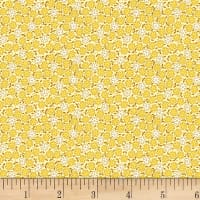 Henry Glass Nana Mae III 1930's Small Monotone Floral Yellow