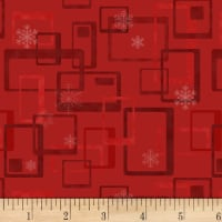 Henry Glass Jolly Ole Soul Retro Geometric Red