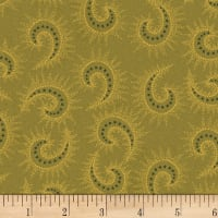 Henry Glass Sage & Sea Glass Starburst Paisley Green