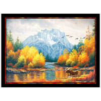 "P&B Textiles Autumn Tranquility Moran Reflections 29"" Panel Multi"