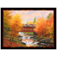 P&B Textiles Autumn Tranquility Autumn by the Creek Panel Multi