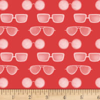 P&B Textiles Coastal Kitty Collection Sun Glasses Red