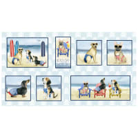 "P&B Textiles Hot Dog Collection 24"" Panel Multi"