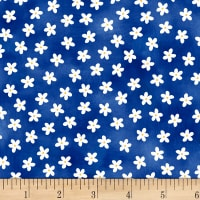 P&B Textiles Hot Dog Collection Toss Daisy Navy