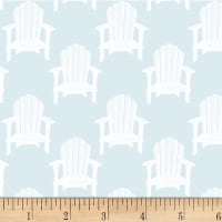 P&B Textiles Hot Dog Collection Toss Beach Chairs Light Blue