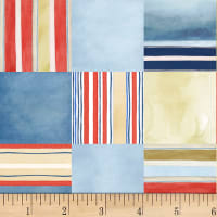 P&B Textiles Hot Dog Collection Toss Stripe Multi