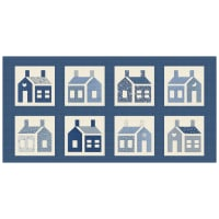 "Washington Street Studio One-Room Schoolhouses 20"" Panel Large School Houses Blue"
