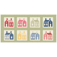 "Washington Street Studio One-Room Schoolhouses 20"" Panel Large School Houses Multi"