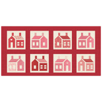 "Washington Street Studio One-Room Schoolhouses 20"" Panel Large School Houses Red"