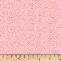 P&B Textiles Basically Hugs Flannel Scroll Pink