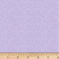 P&B Textiles Basically Hugs Flannel Scroll Purple