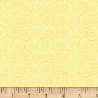 P&B Textiles Basically Hugs Flannel Scroll Yellow