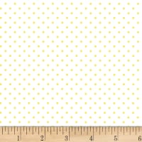 P&B Textiles Basically Hugs Flannel Dots Light Yellow