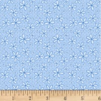 P&B Textiles Basically Hugs Flannel Daisy Blue