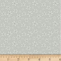 P&B Textiles Basically Hugs Flannel Daisy Grey