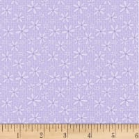 P&B Textiles Basically Hugs Flannel Daisy Purple
